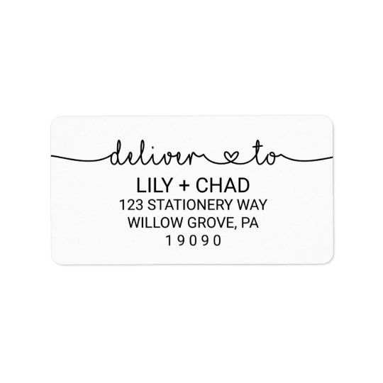Liebe-Herzen liefern an Wedding Adressetiketten