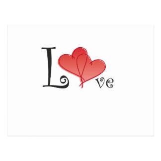 Liebe-Herzen Postkarte