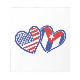 Liebe-Herzen USA Kuba Notizblock