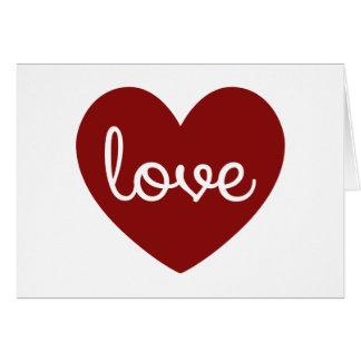 Liebe-Herzgrußkarte Karte