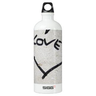 Liebe-Herzzeichen Aluminiumwasserflasche