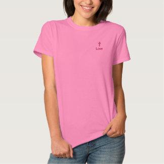 Liebe-Hoffnungen Besticktes T-Shirt