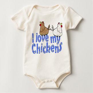 Liebe-Huhn-Baby-Strampler Baby Strampler