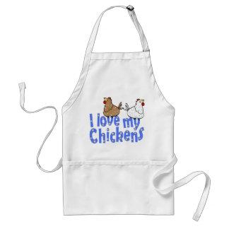 Liebe-Hühner - Schürze