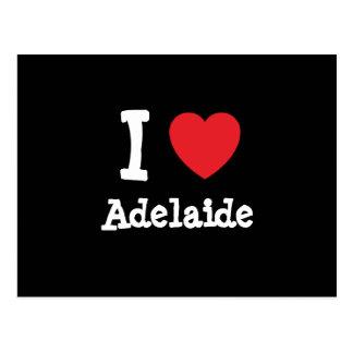 Liebe I Adelaide-Herz T - Shirt Postkarte