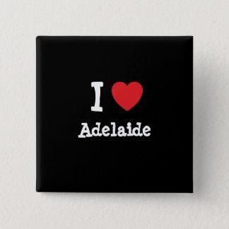 Liebe I Adelaide-Herz T - Shirt Quadratischer Button 5,1 Cm