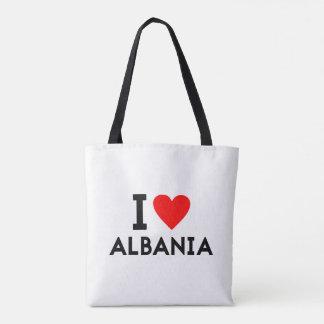 Liebe I Albanien-Landnationsherz-Symboltext Tasche