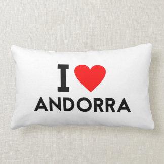 Liebe I Andorra-Landnationsherz-Symboltext Lendenkissen