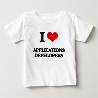 Liebe I Anwendungs-Entwickler T-Shirts