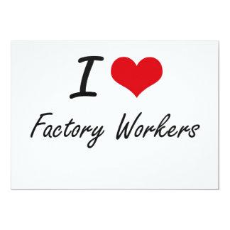 Liebe I Arbeiter 12,7 X 17,8 Cm Einladungskarte
