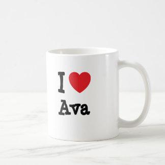 Liebe I Ava Herz T - Shirt Kaffeetasse