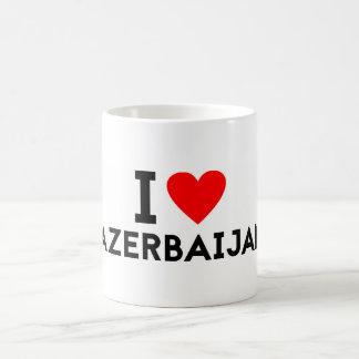 Liebe I Azerbaijan-Landnationsherz-Symboltext Kaffeetasse