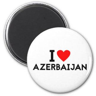 Liebe I Azerbaijan-Landnationsherz-Symboltext Runder Magnet 5,1 Cm