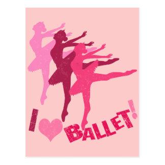 Liebe I Ballett Postkarte