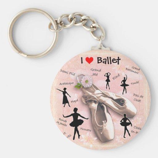 Liebe I Ballett Schlüsselanhänger