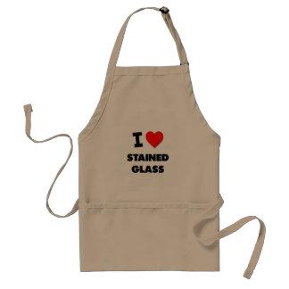 Liebe I beflecktes Glas Schürzen