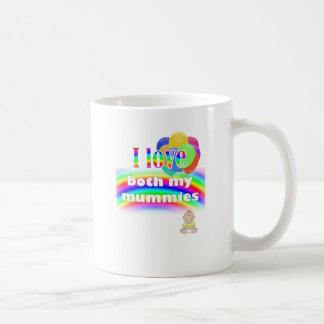 Liebe I beide meine Mamas: lesbischer Parenting Kaffeetasse