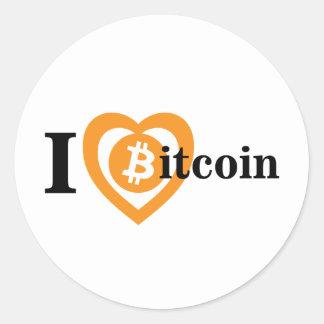 Liebe I bitcoin Aufkleber