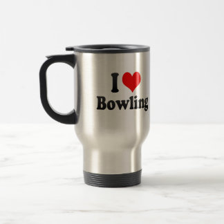 Liebe I Bowling Reisebecher