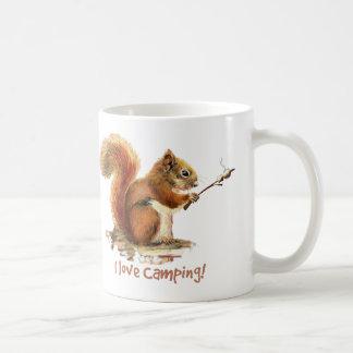 Liebe I CAMPING Spaß-Eichhörnchen-Tier-Zitat Tasse