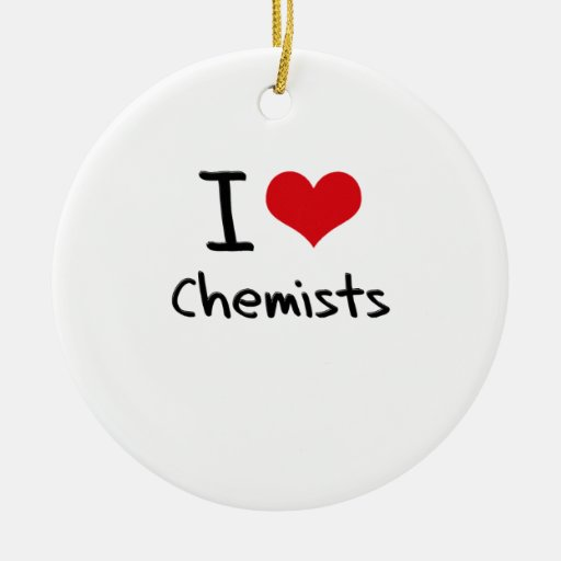 Liebe I Chemiker Ornament
