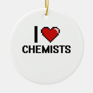 Liebe I Chemiker Rundes Keramik Ornament