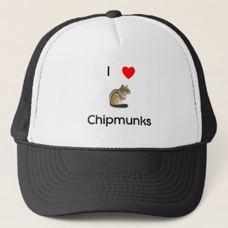 Liebe I Chipmunks Hut Truckerkappe