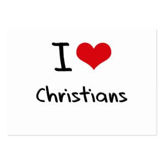 Liebe I Christen Visitenkarten Vorlagen
