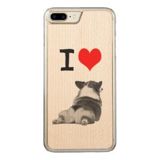 Liebe I Corgi-Hintern Carved iPhone 8 Plus/7 Plus Hülle