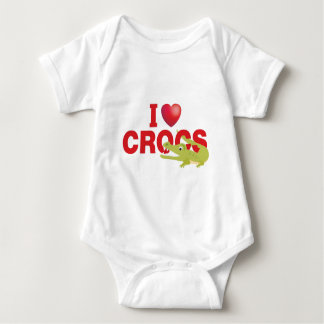 Liebe I crocs Baby Strampler