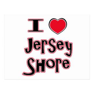 Liebe I das Jerseyuferrot Postkarte