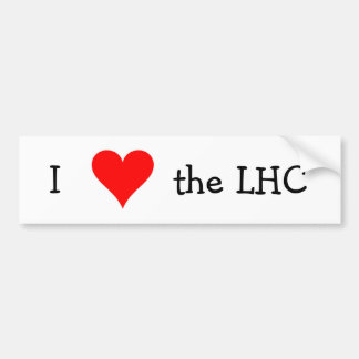 Liebe I das LHC Autoaufkleber