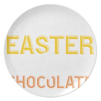 Liebe I das Ostern, erhalte ich Schokolade Teller