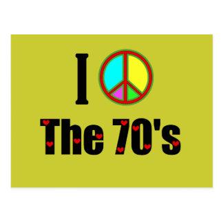 Liebe I das Siebzigerjahre Friedenszeichen Postkarte