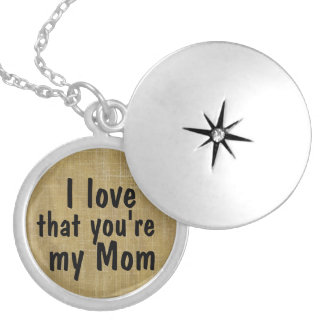 Liebe I, dass Sie mein Mamma-ZitatLocket sind Versilberte Kette