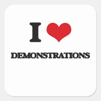 Liebe I Demonstrationen Quadrat-Aufkleber