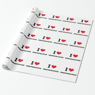 Liebe I Demonstrationen Geschenkpapierrolle