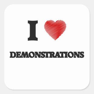 Liebe I Demonstrationen Quadratischer Aufkleber
