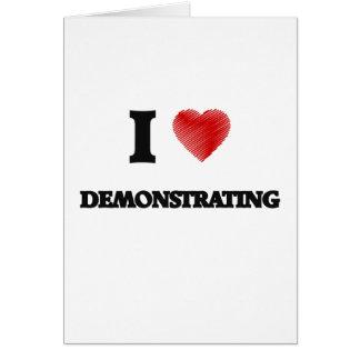Liebe I Demonstrieren Grußkarte