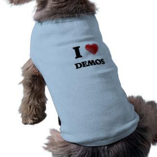 Liebe I Demos Ärmelfreies Hunde-Shirt