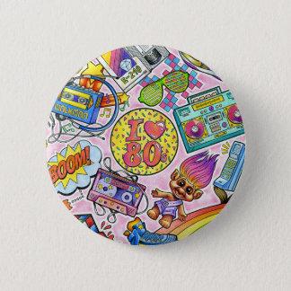 Liebe I der 80er Knopf! Runder Button 5,7 Cm