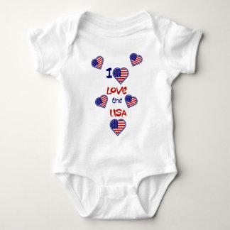 Liebe I der Herz-Säuglings-Strampler USA Baby Strampler