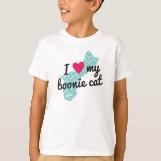 Liebe I der Kinder mein Boonie Katzen-Shirt (blau) T-Shirt