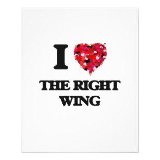Liebe I der rechte Flügel 11,4 X 14,2 Cm Flyer