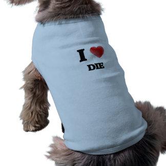 Liebe I die Ärmelfreies Hunde-Shirt