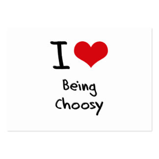 Liebe I, die Choosy ist Mini-Visitenkarten