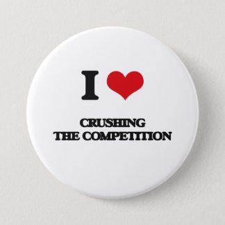 Liebe I, die den Wettbewerb zerquetscht Runder Button 7,6 Cm