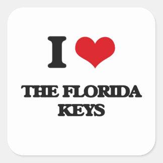 Liebe I die Florida-Schlüssel Quadrat-Aufkleber