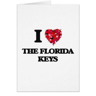 Liebe I die Florida-Schlüssel Grußkarte