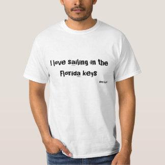 Liebe I, die in die Florida-Schlüssel segelt T-Shirt